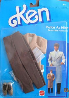Amazon.com: Barbie KEN Fashions Twice As Nice Reversible Fashions - TRENCH COAT & More! (1985 Mattel Hawthorne): Toys & Games