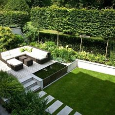 40 Wonderful And Modern Garden Architecture Design Ideas Contemporary Garden Design, Small Garden Design, Landscape Design, Garden Modern, Modern Planting, Modern Garden Furniture, Pond Design, Modern Gardens, Beach Design