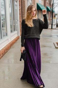 *true to size *beautiful pleated maxi skirt *100% Polyester