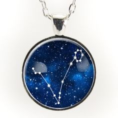 Pisces Constellation Necklace, Astrology Zodiac Pendant