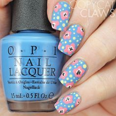This #40greatnailartideas dotticure Floral was done with @opi_products Rich Girls & Po-Boys and Got Myself Into A Jam-balaya.  I love @wondrouslypolished florals and @thecrumpet1's dotted flowers so I used them as my inspiration. ❤️ you ladies!