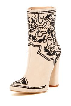 Pilar Embroidered High Heel Boot