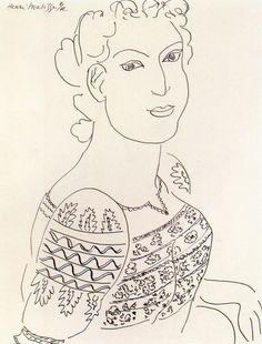 "Henri Matisse ""The Romanian Blouse"" 1942"