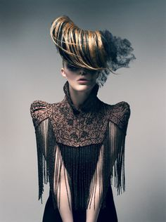Hair art! Photographer: Ruben Kristiansen Hair: Thomas Mørk Model: Jeanette Mathisen @ Team Models. #MHDLoves