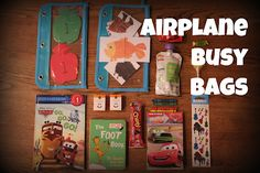 Airplane Busy Bags for Toddlers