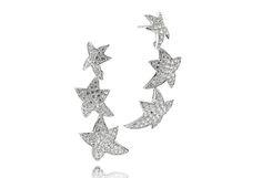 Earrings Antares lungo with white zirconia