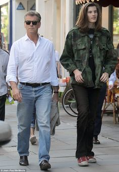 Pierce Brosnan and his son Dylan shop in West London ~ 2013 - his son would make a beautiful elf!