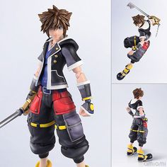 """AmiAmi [Character & Hobby Shop]   Kingdom Hearts III - BRING ARTS: """"Sora"""" Second Form ver. Action Figure(Released) Fire Emblem Awakening Tharja, Monster High Boys, Drakengard Nier, Best Action Figures, Kingdom Hearts Ii, Toys For Boys, Spiderman, Character Design, Bring It On"""