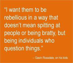 Gavin Rossdale on raising rebels