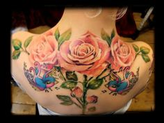 Nocturnal Tattoo Club, Bournemouth.  These roses!
