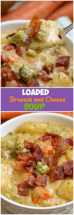 Loaded Broccoli Cheese and Potato Soup
