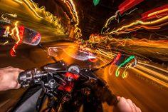 Lighttrails n my Moto by Brian Boeck on 500px