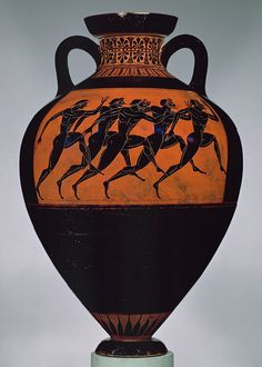 greek panathenaic amphora. c.530bc