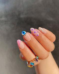 Nail Design Glitter, Nail Design Spring, Bright Nails, Funky Nails, Funky Nail Art, Best Acrylic Nails, Acrylic Nail Designs, Funky Nail Designs, Popular Nail Designs