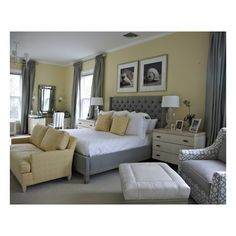 Newport - traditional - bedroom - new york - by Libby Langdon... ❤ liked on Polyvore
