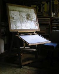 DIY Easel and Work Station - Easy, Cheap and Versatile My Art Studio, Dream Studio, Studio Ideas, Office Art, Office Decor, Home Office, Diy Easel, Painting Station, Jackson's Art