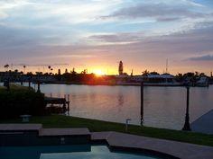 Sundown in Treasure Island, Florida, USA