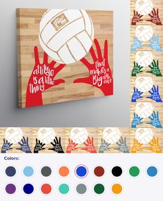 Volleyball Attitude canvas in loads of colors. Volleyball Outfits, Volleyball Gifts, Coaching Volleyball, Volleyball Pictures, Sports Painting, Diy Painting, Soccer Games, Basketball, Craft Projects