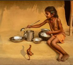 64 Ideas For Baby Art Photography Fun Indian Women Painting, Indian Art Paintings, Art Village, Indian Village, Village Photography, Life Photography, Art Pictures, Photos, Composition Painting