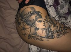 #Nefertiti#tattoo#flowers# Hip Tattoos Women, Dope Tattoos, Baby Tattoos, Sleeve Tattoos For Women, Leg Tattoos, Body Art Tattoos, Script Tattoos, Arabic Tattoos, Dragon Tattoos