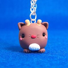 Kawaii Reindeer Cat Cube Necklace by hiyah on Etsy, $16.00