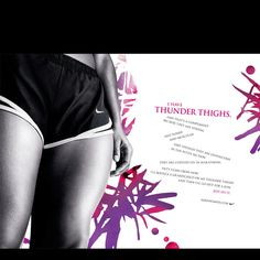 """Nike Women """"I Have Thunder Thighs"""" - Along with the butt, shoulders, legs. Running Inspiration, Fitness Inspiration, Workout Inspiration, Nike Inspiration, Workout Ideas, Fashion Inspiration, Just Do It, Just In Case, Fitness Motivation"""