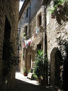 Bevagna, Italy. Charming town in Umbria