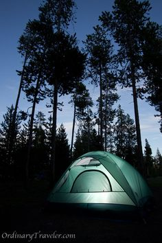 hiking and camping in Yellowstone National Park