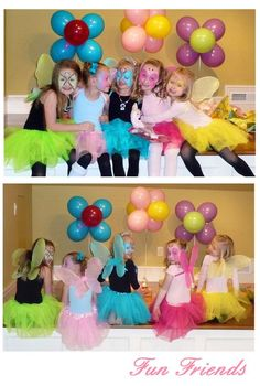 Love the bright colors for the fairies - it's OK to use something besides pink and purple!