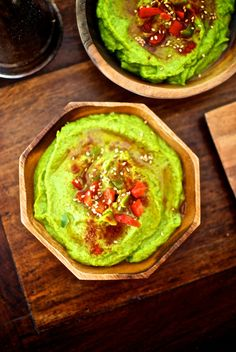 Hummus de guisantes, receta vegetariana