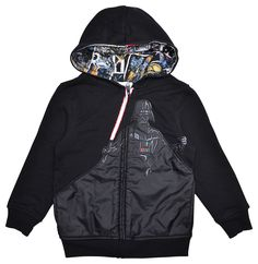 Star Wars Darth Vader Boys Black Zip Hoodie Jacket