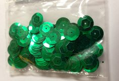 Kelly Green Sequins by GreenPhoenixDesigns on Etsy, $2.25