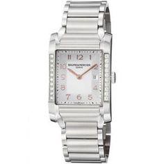29% off Baume & Mercier - Stainless Steel Watch 10023 Ladies Diamond Silver - $3,257.99
