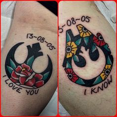 His and Hers anniversary Star Wars tattoos for Tony and Sara. Thanks for making the trip!  Chris Jenko