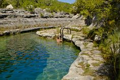 """Blue Hole"", Frio River Leaky Texas"