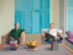 Christopher Isherwood and Don Bachardy, David Hockney.