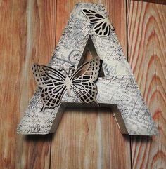 Mad Scrap Project: El taller en casa: letra decorada