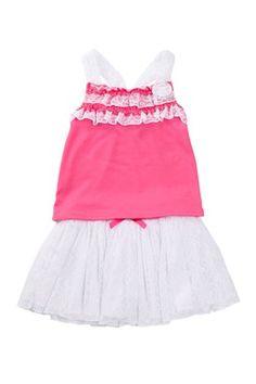 Top & Skirt 2-Piece Set (Little Girls)
