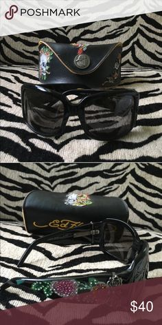 Ed hardy sunglasses Pre owned, good condition, only one slight scratch Ed Hardy Accessories Sunglasses