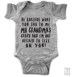 Our baby girl clothes & newborn outfits are severely adorable. Cool Baby, Fantastic Baby, Unique Baby, Funny Babies, Cute Babies, Baby Kids, Funny Baby Onesie, Onesies Baby Boy, Dad Onesie