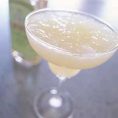 Pineapple Margarita...fresh lime juice, white tequila, triple sec, pineapple juice...