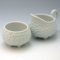 Porcelain creamer and sugar bowl set by robertapolfus on Etsy, $125.00