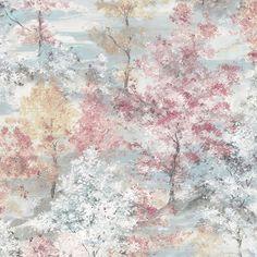 Forest by Galerie - Pink / Aqua / Beige / White - Wallpaper : Wallpaper Direct Navy Wallpaper, Botanical Wallpaper, Embossed Wallpaper, Geometric Wallpaper, Wallpaper Roll, Wallpaper Ideas, Motif Tropical, Buy Wallpaper Online, Dreams