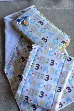 Easy to Make Burp Cloths! » All Things Heart and Home