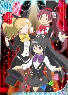 "thekusabi: ""  Official Madoka Magica Magicians series artwork! """