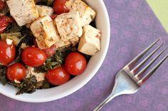Kale and Tomato Tofu Bake