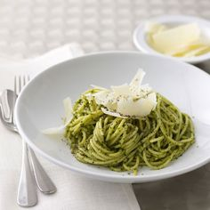 Spaghetti with Pesto #pesto #spaghetti #DelishCookingSchool