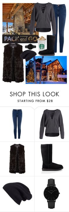 """Pack And Go Contest"" by cautionitskara ❤ liked on Polyvore featuring Warehouse, Vince, New Look, UGG, Halogen and CLUSE"