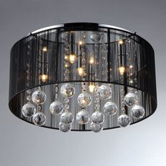 Shop Warehouse of Tiffany Crystal 17-in W Chrome Ceiling Flush Mount Light at Lowes.com