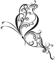 60 Awesome free butterfly tattoo designs + the meaning of butterfly tattoos. Designs include: feminine, tribal and lower back butterfly tattoos. Tatoo Henna, Tatoo Art, Body Art Tattoos, New Tattoos, Tribal Tattoos, I Tattoo, Phoenix Tattoos, Tatoos, Swirl Tattoo